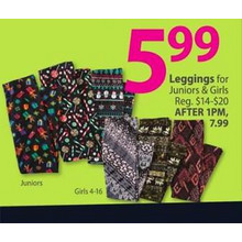 Girls' Leggings (Assorted Styles)
