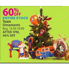 Team Ornaments (Assorted Styles) 60% OFF