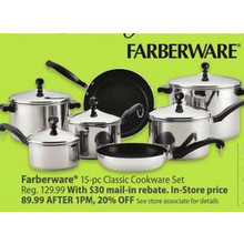 Faberware 15-pc. Classic Cookware Set