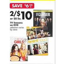 DVD TV Seasons (Assorted Titles) 2 FOR $10.00