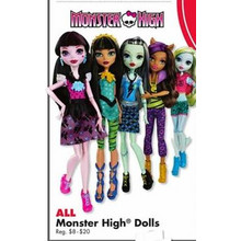 Monster High Dolls B2G1 FREE