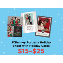 $15-$25 JCPenney Portraits Holiday Shoot with Holiday Cards