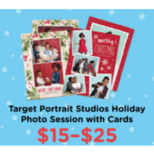 $15-$25 Target Portrait Studios Holiday Photo Session with Cards