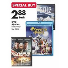 $2.88 DVD Movies (Assorted Titles)