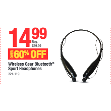 Wireless Gear Bluetooth Sport Headphones