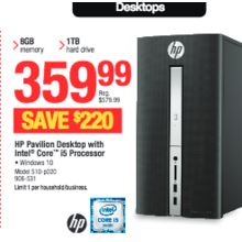 HP Pavilion Desktop with Intel Core i5 Processor