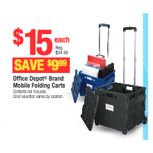 Office Depot Brand Mobile Folding Carts