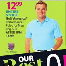 Golf America Men's Performance Polos