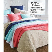 Venice Solid Quilts 50% OFF