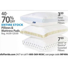 Pillow & Mattress Pads (Assorted) Up To 70% OFF