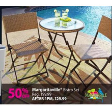 Margaritaville Bistro Set 50% OFF