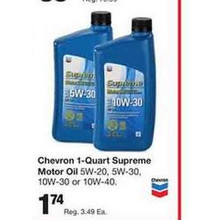 Chevron 1-qt. Supreme Motor Oil 5W-30