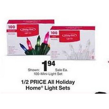 Holiday Home 100-Mini-Light Set (Assorted Colors)