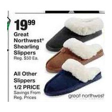 Great Northwest Shearling Black Slippers (Assorted Colors)