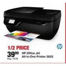 HP Office 3833 Jet All-In-One Printer