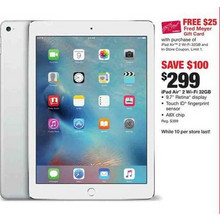 "iPod Air 2 9.7"" 32GB w/ FREE $25 Gift Card"
