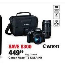 Canon Rebel T6 DSLR Kit