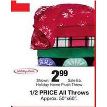 Throws (Assorted) 50% OFF