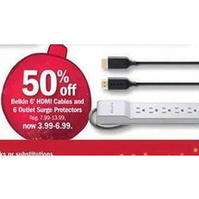 6-Outlet Surge Protectors - 50% OFF