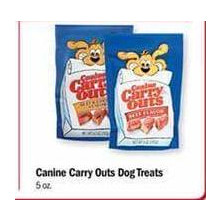 Canine Carry Outs Dog Treats - BOGO FREE
