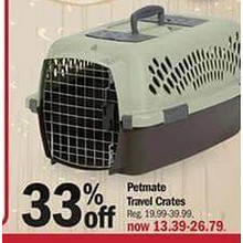 Petmate Travel Crates (Assorted Sizes) - 33% OFF