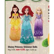Disney Princess Shimmer Dolls