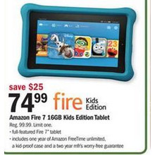 Amazon Fire 7 16GB Kids Edition Tablet