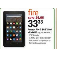 Amazon Fire 7 8GB Tablet w/Wi-Fi