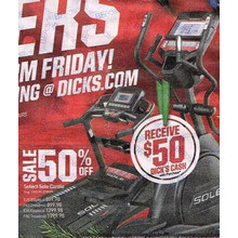 Sole Cardio E35 Elliptical  50% OFF + $50 Dick's Cash