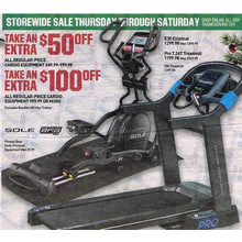Sole Cardio E25 Elliptical  50% OFF + $50 Dick's Cash