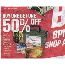 Ammunition BOGO 50% OFF