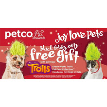 DreamWorks Trolls Pet Fans Collection Headwear for Dogs w/ Purchase FREE
