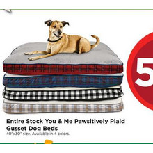 You & Me Pawsitively Plaid Gusset Dog Beds (Assorted Colors) 50% OFF