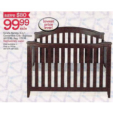 Sorelle Berkley Gray 4-in-1 Convertible Crib