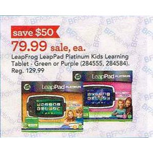 LeapFrog LeapPad Green Platinum Kids Learning Tablet