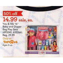 You & Me Baby & Diaper Bag Play Set