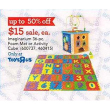 Imaginarium Alphabet & Numbers 36-pc. Foam Puzzle Mat