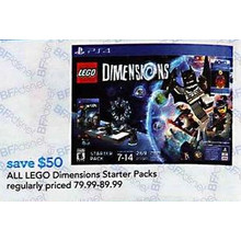 Lego Dimensions Starter Packs  $50 OFF