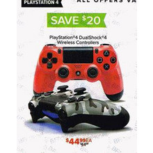 PlayStation 4 DualShock Controllers (Assorted Colors) $20 OFF
