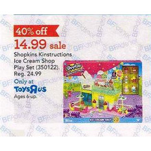 40% Off Shopkins Kinstructions Ice Cream Shop Play Set