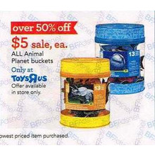 Over 50% Off All Animal Planet Buckets