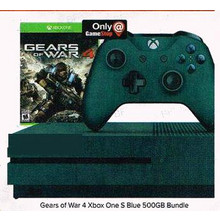 Xbox One S Gears of War 4 Deep Blue Special Edition 500GB Console Bundle