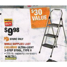 Gorilla Ladders Ultra-Light 3-Step Stool Type II