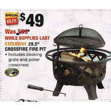 Hampton Bay 29.5-in. Crossfire Fire Pit