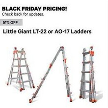 51% Off Little Giant LT-22 Ladders (Assorted)
