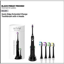 75% Off Sonic Edge Extended Charge Toothbrush w/ 4 Heads