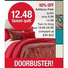 Ashbury Park Queen Quilt (Assorted Styles)