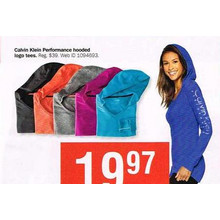 Calvin Klein Womens Performance Hoodies
