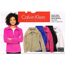 Calvin Klein Womens Plus Size Performance Fleece Jackets