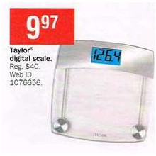 Taylor Glass Digital Bath Scale